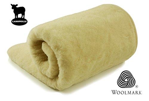 Schafwolldecke Kuscheldecke aus ökologischer Schafwolle 140x200