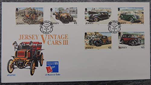 Talbots Mint (Jersey 1999 Vintage Cars FDC 6 values (see scan, this is the cover you will receive) Benz citroen talbot morris ford anglia used mint JandRStamps)