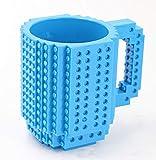 Sunei.f 1Pcs Persönlichkeit zusammengebaute Kaffeebecher Saftschale der Ziegelstein Becher Schale DIY (Blau)