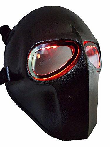 Softair Maske LEDs Army of Two schutzausrüstungen Outdoor Sport Fancy Party Masken BB (Maske Gas Reales)