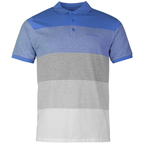Pierre Cardin pannello maglietta polo da uomo blu/grigio top t-shirt tee, Blue/Grey, M