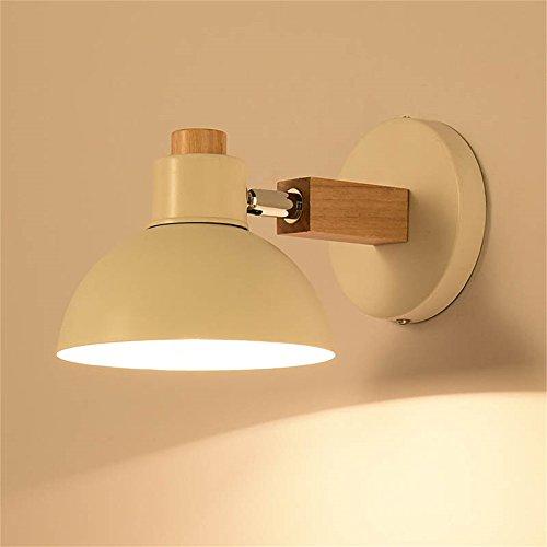 WCS Nordic Original Holz Kunst Lampe Moderne minimalistische kreative Schlafzimmer japanischen Stil Nachttischlampe Wohnzimmer Gang Massivholz Wandleuchte