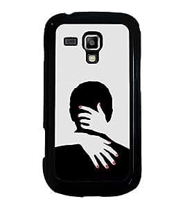FUSON Couple In A Hug Designer Back Case Cover for Samsung Galaxy S Duos S7562