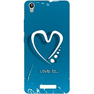 Casotec Love Design Hard Back Case Cover for Lava Pixel V1
