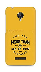 AMEZ you are more than the sum of your mistakes Back Cover For Micromax Canvas Spark Q380
