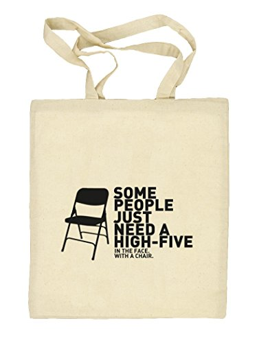Shirtstreet24, High Five, Natur Stoffbeutel Jute Tasche (ONE SIZE) Natur