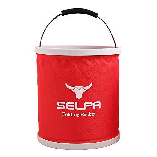 MMLC 11L Falteimer Faltschüssel im Trendigen Design | Für Camping, Angeln, Party und Garten | Einsetzbar als Faltbare Wasch-Schüssel, Wasserkanister Oder Falt-Spülbecken (Red)