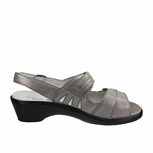 Waldläufer  445007-185-088 Hona, Sandales pour femme gris moyen