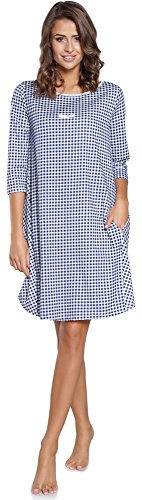 Italian Fashion IF Camicia da Notte per Donna IF180006 Navy