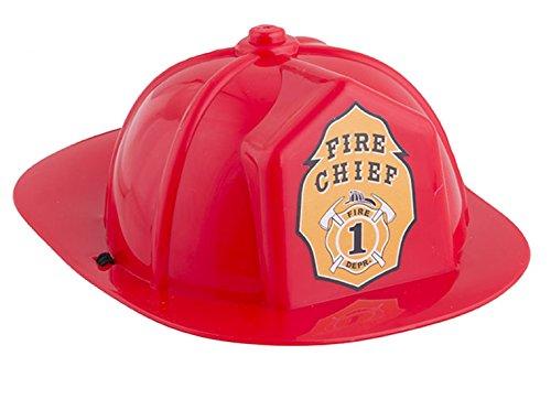 erdbeerclown - Mini Feuerwehrhelm mit Band - Feuerwehr Zubehör Helm, Rot (Feuerwehrmann Kostüm Geist)