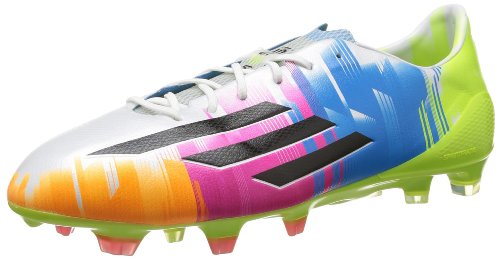 Adidas adizero F50 TRX FG Messi Fußballschuh Herren, weiß - blau - grün, 44 2/3 EU (Messi F50 Stollen)