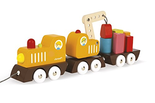 Janod - J08089 - Train Grue Multi Colors Bois