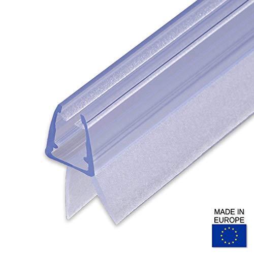 100cm Sealis Guarnizione Ricambio - Guarnizione Sottoporta Doccia per Vetri di Spessore 5mm/ 6mm / 7mm/ 8mm Profilo Box Doccia Guarnizione Aletta Doccia - Trasparente