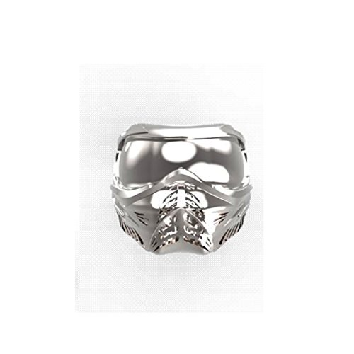 CPB war geboren! Bijoux Damen-Ring, Silber, Airsoft Paintball-Maske Paintball-Silber 925 1000eme, 60
