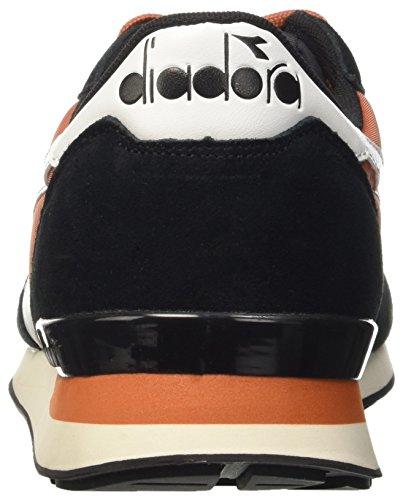 Diadora Camaro, Pompes à Plateforme Plate Mixte Adulte Nero (Nero/Ocra Bruciato)