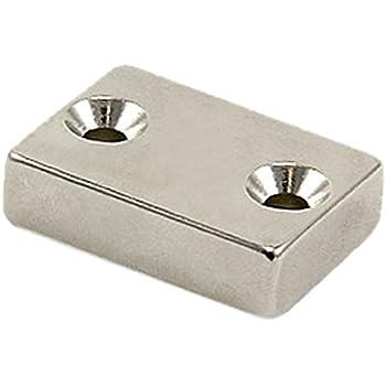 Pack of 1 24.4kg Pull Magnet Expert/® 40 x 20 x 10mm thick x 5.5mm c//s N42 Neodymium Magnet