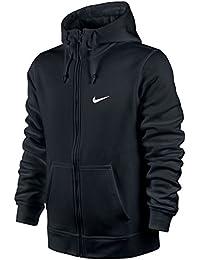 Nike Club Swoosh Men s Full Zip Fleece Hoodie Hooded Jacket Top Black  823531-010 653961f35