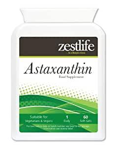 ASTAXANTHIN 4mg weiche Gele - 60 Kapseln. Ein sehr wirksames Heilmittel für alle Arten von Tendon | Joint | Muskelschmerzen | Arthritis und Tennis Elbow.