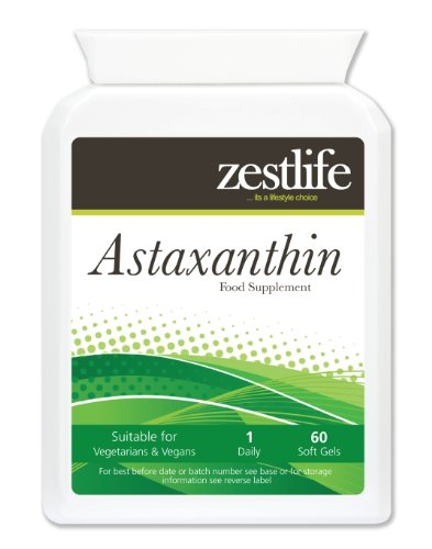 ASTAXANTHIN 4mg Soft Gels - 2 x 60 capsules. The benefits of ASTAXANTHIN are many | It has been shown to be a very effective remedy for all types of Tendon | Joint | Muscle pain | Arthritis and Tennis Elbow.