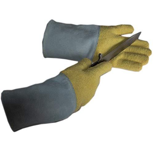 Preisvergleich Produktbild SONGDP Industrielle Handschuhe Küchenhandschuh für Lebensmittelqualität Anti-Schneid-Grillfestigkeit 350 ° C Hochtemperatur-Frottee-Lederpannen tragen industrielle Handschuhe Grillhandschuhe