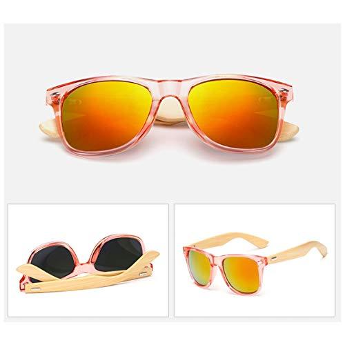 FGRYGF-eyewear Sport-Sonnenbrillen, Vintage Sonnenbrillen,Bamboo Sunglasses Men Retro Wood Sunglass Women Design Sport Goggles Gold Mirror Sun Glasses Shades C7
