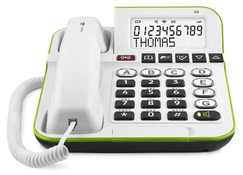 Doro Secure 350 Schnurgebundenes Großtastentelefon mit Notruf-Alarmgeber weiß - 2