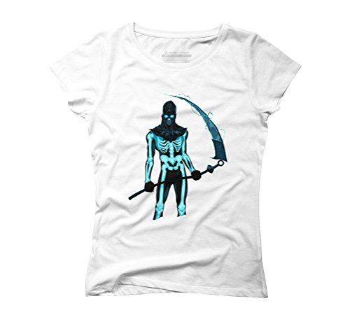 - Demon with a scythe in the fire - Women's Graphic T-Shirt - Design By Humans White