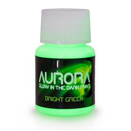 farben die im dunkeln leuchten Im Dunkeln leuchtende Farbe (20 ml) Aurora hellgrün, ungiftig, auf Wasserbasis, von SpaceBeams