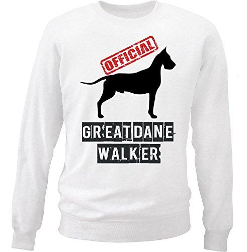 teesquare1st Men's Great Dane - Official Walker White Sweatshirt Size Small (Dane Adult Great Sweatshirt)