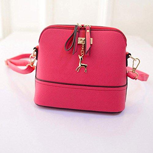 BZLine® Frauen Henkeltaschen Elegante Umhängetasche für Damen weibliche Taschen Pink