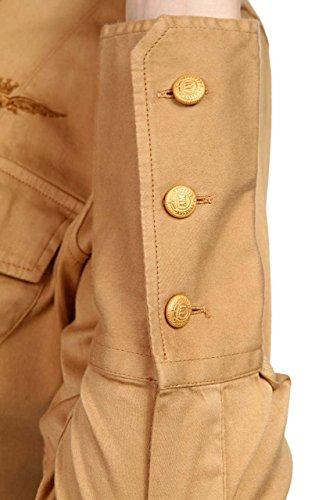 Aeronautica Militare Damen Bluse Hemdbluse Hellbraun