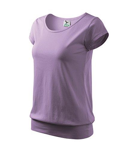 T-Shirt Ladies City Damenshirt 100% Baumwolle - Größe und Farbe wählbar - (M, Lavendel) (Damen-t-shirts Lavendel)