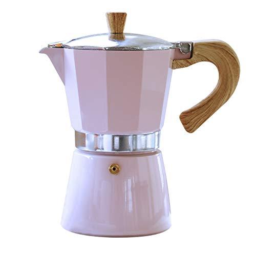 Gnali & Zani VEZ003/IND/PINK Venezia - Cafetera de espresso (3 tazas, aluminio), color rosa