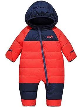 LSERVER Kinder Daunenjacke Overall Säuglingskind Kleidung Fußmanschetten können eingewickelt Werden