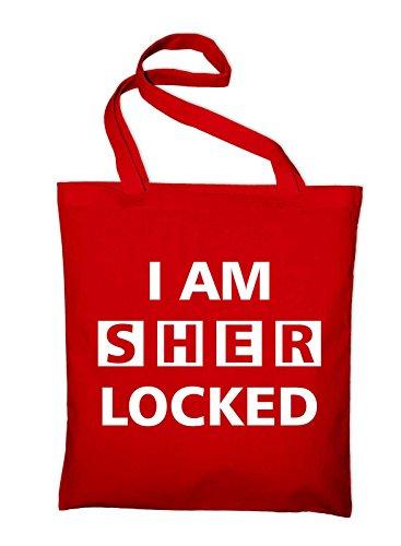 I Am Sherlocked–Sherlock Holmes iuta Borsa, YELLOW (giallo) - styletex23bagsherlock8 RED