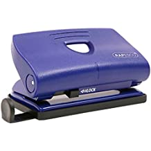 Rapesco 810-P - Perforadora de 2 agujeros, 12 hojas de capacidad, color azul