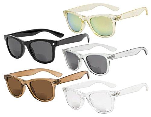 Eyekepper Classic Bifocal Sonnenbrille für Frauen 5 Pack Mix Farbe +1,00