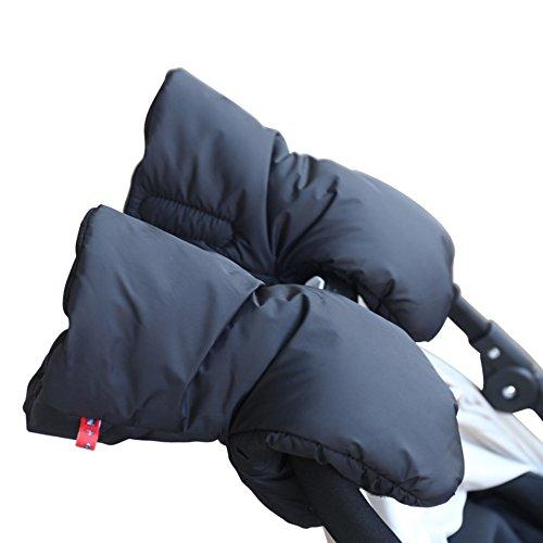 1/par Protecci/ón de manos para cochecitos / /Guantes impermeables y abrigados para empujar el cochecito negro negro Talla:19*31*3CM