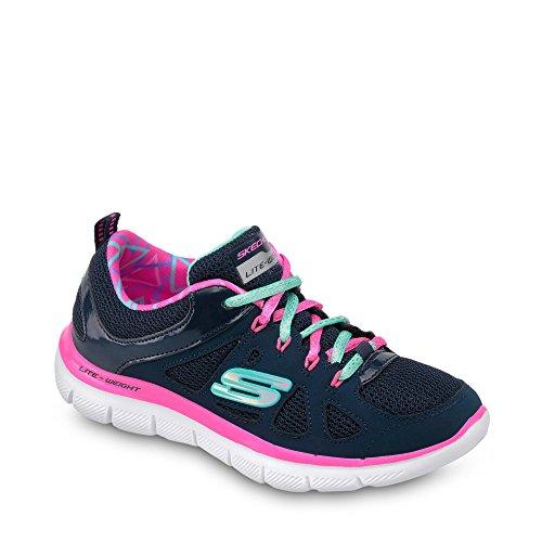 Skechers Sneaker, Groesse 38, Marine/Pink (Skechers 5 Jungen Größe Schuhe)