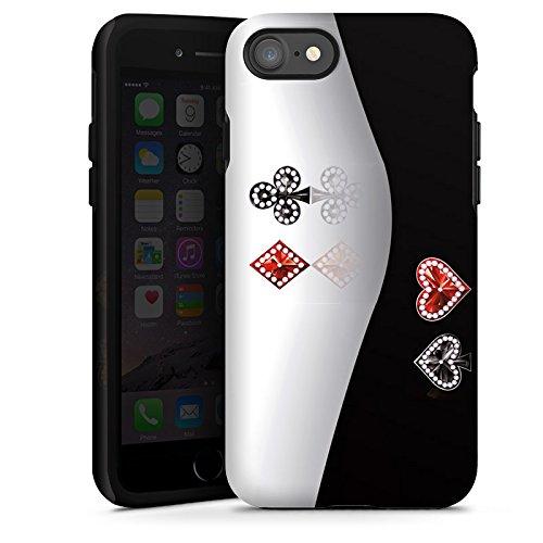Apple iPhone X Silikon Hülle Case Schutzhülle Kreuz Karo Herz Tough Case glänzend