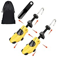 Halcent Pair of Two-Way Shoe Stretcher Kit Plastic & Metal Shoe Stretchers Expander Shoe Tree with Shoe Horn for Men and Women