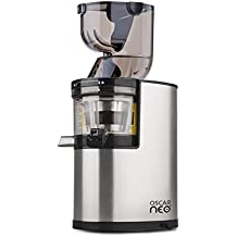 Oscar Neo XL Whole Fruit Juicer - Professional Slow Juicer, Wide Mouth Juice Extractor, Stainless Steel 250W Power Juicer - Commercial Warranty