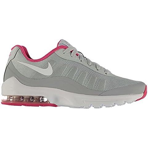 Nike Air Max Invigor Zapatos de entrenamiento para mujer, color gris/blanco/rosa gimnasio entrenadores zapatillas, Grey/White/Pink