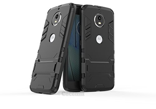 Motorola Moto G5S / G6 Funda, Cocomii Iron Man Armor NEW [Heavy Duty] Premium Tactical Grip Kickstand Shockproof Hard Bumper Shell [Military Defender] Full Body Dual Layer Rugged Cover Case Carcasa (Jet Black)