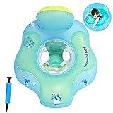Baby Schwimmring Kleinkind Kinder Schwimmsitz Schwimmen Ring Aufblasbarer Schwimmsitzring Schwimmhilfe Schwimmtrainer für Kinder Von 6 Bis 26 Monaten, mit schneller manueller Luftpumpe