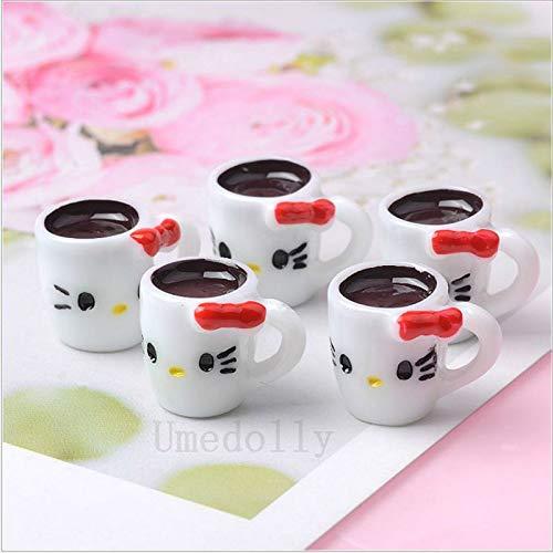 Sungpunet 5PCS Nette Minipuppenhaus Miniatur-Milch Kaffee Simulationsspiele für das Kochen von Essen Spielzeug-Zubehör