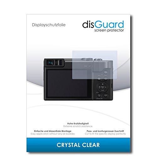 disGuard® Bildschirmschutzfolie [Crystal Clear] kompatibel mit Panasonic Lumix DC-TZ91 [2 Stück] Kristallklar, Transparent, Unsichtbar, Extrem Kratzfest, Anti-Fingerabdruck - Schutzfolie