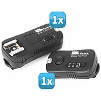Impulsfoto - Sistema di comando flash a distanza per flash da studio e flash esterni, per Nikon D7000, D5200, D5100, D5000, D3200, D3100, D3000, D800, D700, D600, D300s, D300, D200, D90, D80, D70s, D70, D1 series, D2 series, D3 series, N90s, F100, F90X, SB-910, SB-900, SB-800, SB-600, SB-400 - Distanza Sistema