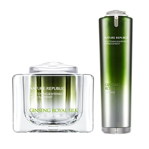 Nature Republic Ginseng Royal Silk Watery Cream 60 Ml Essence 40 Ml Set Face Intensive Skin Care Improve Wrinkle Whitening Gold