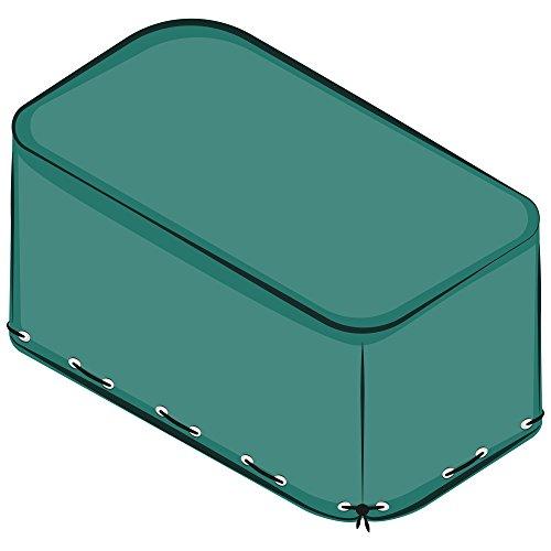 AWM Gartenmöbel Abdeckung PE 130g o. PVC 310g Schutzhülle Abdeckplane grün o. schwarz Wetterplane (300x250x90cm, Grün PE (130g))